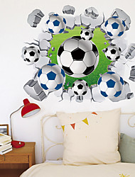 cheap -3D Broken Wall Football Home Corridor Background Decoration Can Be Removed Stickers
