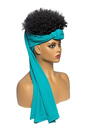 cheap -african explosive head new blue streamer headscarf wig headgear fluffy short curly hair factory straight hair