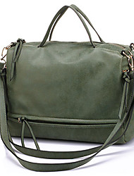 cheap -Women's Men's Bags PU Leather Top Handle Bag Zipper Solid Color Going out Outdoor Retro 2021 Handbags Purple Army Green Dark Blue Gray