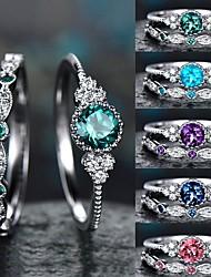 cheap -Ring Classic Blue Purple Blushing Pink Alloy Precious Artistic Cute 1pc 5 6 7 8 9 / Women's