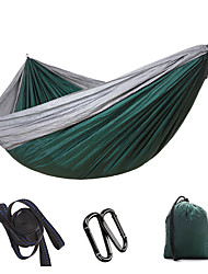 cheap -Camping Hammock Outdoor Portable Ultra Light (UL) Breathability Quick Dry Foldable Parachute Nylon with Carabiners and Tree Straps for 2 person Hunting Fishing Hiking Red Army Green Blue 300*200 cm