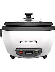cheap -black + decker rc506 6-cup cooked / 3-cup uncooked rice cooker and food steamer, white
