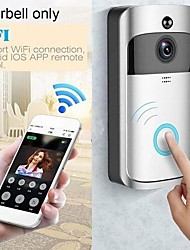 cheap -wifi low power wireless camera smart life app voice call motion detection tuya wifi video door phone doorbell camera