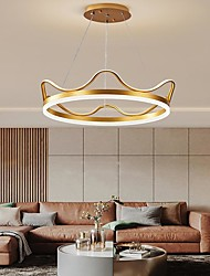 cheap -50 cm Dimmable Pendant Light Aluminum Acrylic Stylish Crown Painted Finishes Contemporary Nordic Style 110-120V 220-240V
