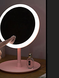 cheap -Makeup Mirror With Lamp Smart Makeup Mirror LED Desktop Desktop Mirror Student Fill Light Mirror Beauty Dormitory Mirror 	Makeup Mirror With Lights