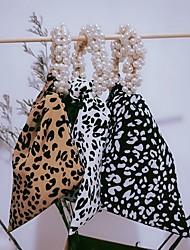 cheap -2021 new pearl hair tie leopard print bowknot multi-purpose hair band korean french retro pearl hair tie