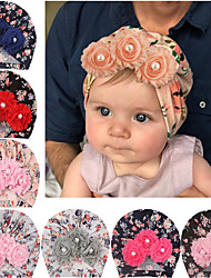 cheap -2019 amazon europe and the united states new baby baby soft print children's hat sun flower sticky bead head hat