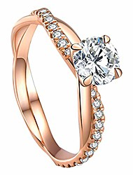 cheap -exquisite cubic zirconia wedding anniversary promise halo engagement ring