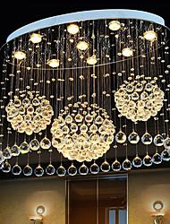 cheap -Crystal Chandelier Ceiling Light With 9 Lights and 2-TierModern K9 Flush Mount Ceiling Light Fixtures Modern Chandelier For Restaurant Dining Room Living Room Bedroom
