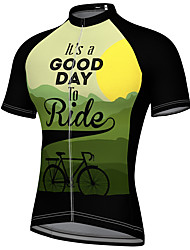 cheap -21Grams Men's Short Sleeve Cycling Jersey Summer Spandex Polyester Black Blue Red Bike Top Mountain Bike MTB Road Bike Cycling Quick Dry Breathable Reflective Strips Sports Clothing Apparel