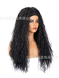 cheap -turban wig european and american cross-border new fashion long curly hair hairband wig chemical fiber headgear headband wig