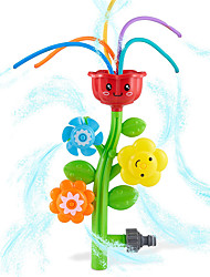 cheap -Outdoor Water Spray Sprinkler for Kids and Toddlers - Cute Lawn Spinning Flower Kids Sprinkler w/ Wiggle Tubes - Splashing Fun for Summer Days - Attaches to Garden Hose - Age 3+
