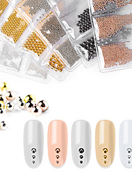 cheap -Nail Decoration Set Nail Art Steel Ball Caviar 6 Compartments Gold And Silver Beads Nail Art Accessories