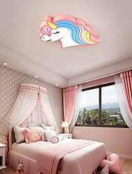 cheap -52.5 cm Circle Design Flush Mount Lights Metal Acrylic Artistic Style Novelty Animal Pattern Painted Finishes Artistic LED 220-240V / CE Certified