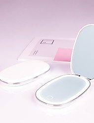 cheap -Make-up Mirror Led Portable Light-emitting Folding Double-sided Mirror With Light Portable Pocket Mirror Dressing Hand-held Vanity Mirror