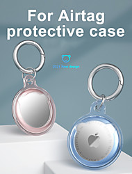 cheap -Soft Silicone Case For Apple AirTags 2021 Portable Bluetooth Tracker Cover Anti-Scratch Lightweight Protective Skin Cover for AirTages Key Finder Keychain Accessory
