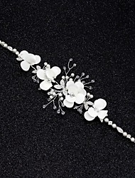 cheap -Wedding Bridal Alloy Headbands / Headdress / Headpiece with Imitation Pearl / Flower / Metal 1 PC Wedding / Party / Evening Headpiece