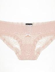 cheap -Women's Lace Brief Low Waist Blushing Pink M L