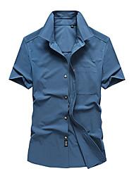 cheap -Men's Hiking Jacket Hiking Shirt / Button Down Shirts Short Sleeve Shirt Coat Top Outdoor Quick Dry Lightweight Breathable Sweat wicking Autumn / Fall Spring Summer claret Denim Blue off-white