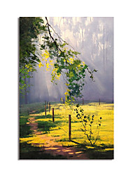 cheap -Oil Painting Hand Painted Impression Landscape Canvas Painting Comtemporary Simple Modern Stretched Canvas Ready to Hang