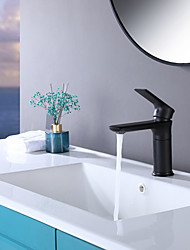 cheap -Bathroom Sink Faucet Heavy Duty Style Single Handle Modern Single Hole Deck Mount Hot and Cold Vanity Faucets Supply Utility Hose for Laundry Washbasin Lavatory Faucet Mixer Tap Matte Black