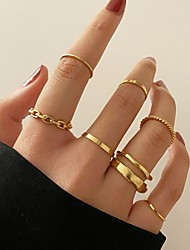 cheap -Midi Rings Retro Gold Silver Alloy Stylish Simple European 7pcs One Size