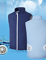 cheap -Men's Cooling Fan Vest Fishing Vest Outdoor Lightweight Breathable Sweat-Wicking Air Conditioning Vest / Gilet Spring Summer Fishing Camping & Hiking Cycling / Bike Army Green Grey Royal Blue
