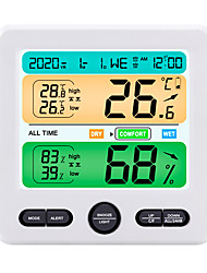 cheap -TS-6211 Mini / Portable Hygrometers Measuring temperature and humidity, Clock Alarm style, LCD backlight display