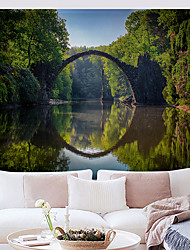 cheap -Wall Tapestry Art Decor Blanket Curtain Hanging Home Bedroom Living Room  Polyester Forest River Bridge