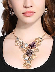 cheap -Women's Jewelry Set 3D Leaf Flower Fashion Resin Gold Plated Earrings Jewelry Rainbow For Christmas Wedding Party Evening Gift Formal 1 set