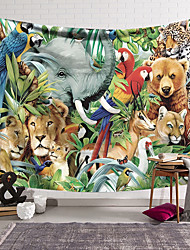 cheap -Wall Tapestry Art Decor Blanket Curtain Hanging Home Bedroom Living Room Decoration Polyester Animal World