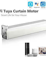 cheap -45w 240v wifi electric motor curtain tuya smart app remote control vioce work with alexa google home family intelligence system