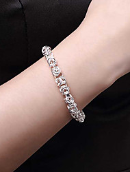cheap -Chain Bracelet Bracelet Hollow Out Fashion Fashion Copper Bracelet Jewelry Silver For Christmas Party Evening Gift Formal Date / Silver Plated