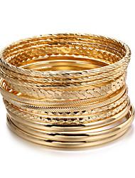 cheap -12 bracelets set jewelry bohemian style multi-layer alloy women