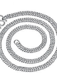 cheap -Men's Chain Necklace Beaded Necklace Classic Precious Fashion Copper Silver Plated Silver 50 cm Necklace Jewelry For Christmas Halloween Party Evening Street Gift / Chains