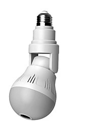 cheap -360 degree vr panoramic universal light bulb camera wireless wifi network indoor camera night vision two-way voice camera