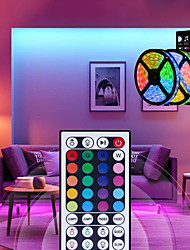 cheap -15m 3x5m LED Light Strips RGB Tiktok Lights 5050 SMD 450 Leds 10mm Strip Fexible Light Led Tape not-waterproof DC 12V 450leds with 44key IR Remote Controller Kit