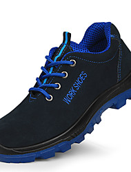 cheap -Unisex Trainers Athletic Shoes Classic Chinoiserie Office & Career Safety Shoes Cowhide Waterproof Non-slipping Wear Proof Booties / Ankle Boots Dark Blue Spring Summer