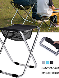 cheap -Camping Stool Portable Ultra Light (UL) Foldable Breathable Aluminum Alloy for 1 person Fishing Beach Camping Traveling Autumn / Fall Winter Black Blue Silver