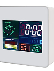 cheap -TS-S61 Portable / Multi-function Hygrometers Measuring temperature and humidity, Clock Alarm style, LCD backlight display