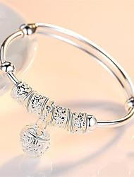 cheap -Women's Bracelet Bangles Cuff Bracelet Figaro Bracelet Classic Fashion Fashion Trendy Casual / Sporty Korean Cute Copper Bracelet Jewelry Silver For Sport Gift Date Birthday Festival / Silver Plated