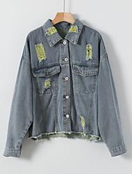 cheap -cross-border source of 2020 autumn new ripped Denim Jacket