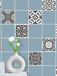 cheap -Black And White Classic Tile Stickers House Renovation Diy Self-adhesive Pvc Wallpaper Painting Kitchen Bathroom Waterproof And Oil-proof Wall Stickers