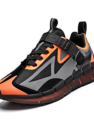 cheap -Men's Sneakers Sporty Preppy Daily Outdoor Elastic Fabric Breathable Non-slipping Wear Proof Orange / Black Green Gray Color Block Spring Summer