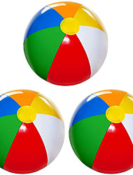 cheap -Beach Balls for Kids 3 Pack Large 20 inch Inflatable Beach Ball Classic Rainbow Color - Pool Toys for Kids Beach Toys Summer Outdoor Activity