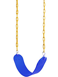"""cheap -Swing Seat Heavy Duty with 66"""" Chain Plastic Coated, Swing Set Accessories Swing Seat Replacement, 250 LB Weight Limit (Blue/Green)"""