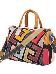 cheap -cross-border new handbags, leather, leather handbags, geometric patterns, hit color, handmade bags, single-shoulder ladies bags