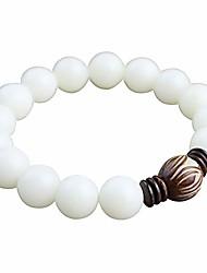 cheap -white bodhi root bracelet white jade bodhi seed lotus bead bracelet