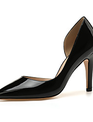 cheap -Women's Heels High Heel Pointed Toe Patent Leather Solid Colored Almond White Black