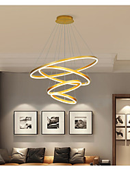 cheap -LED Pendant Light Modern Dimmable 4 Ring Circle Design Gold Aluminum Brushed Nordic Style 110-240 V